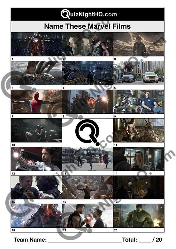 marvel cinematic universe movie screenshots trivia quiz