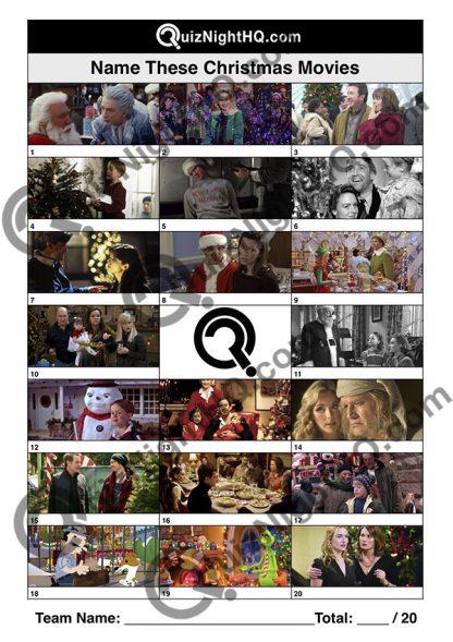 Trivia question round christmas festive quiz