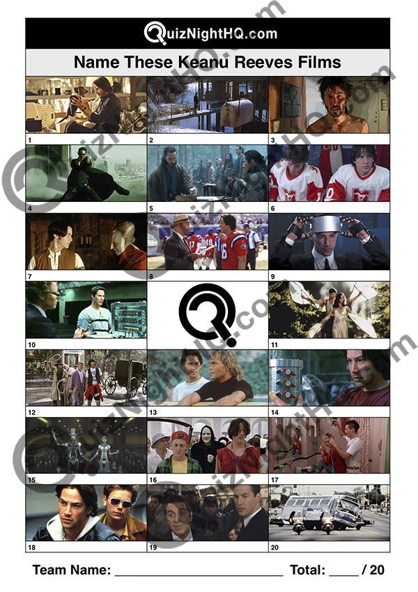 films starring keanu reeves trivia movie picture round