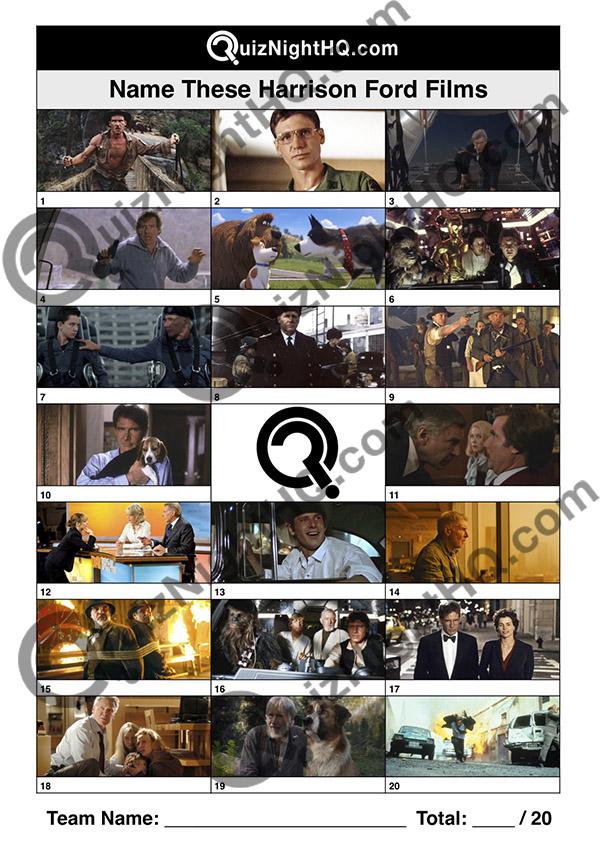 harrison ford film screenshots trivia round