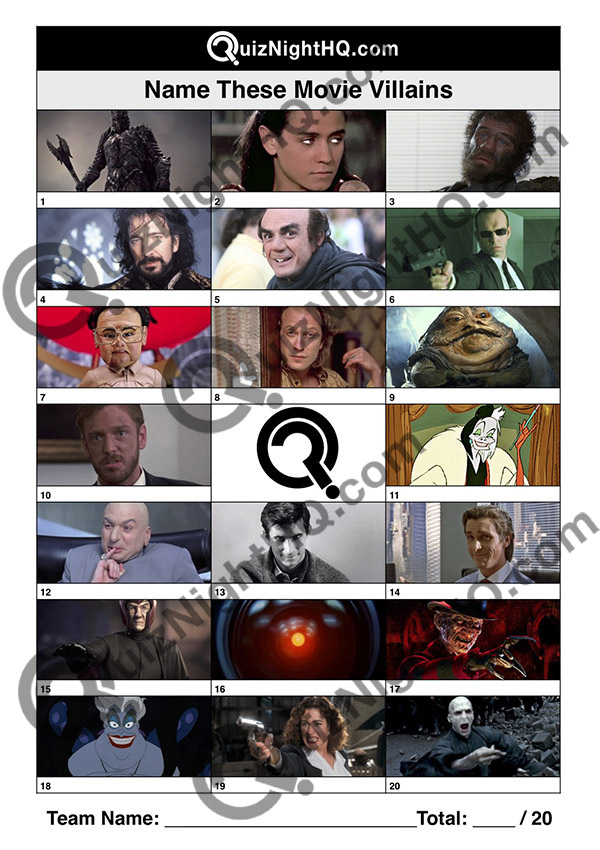 film villains picture trivia round