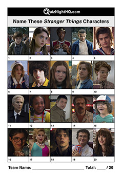 netflix stranger things characters picture trivia round