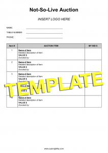 Not-So-Live Auction Template