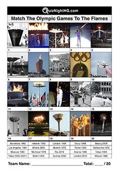 olympics flame trivia quiz round