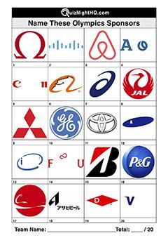 olympic games sponsor company logos quiz