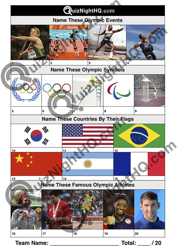 kids olympics trivia picture round jumble