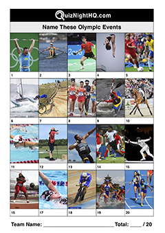 olympic games events trivia picture round