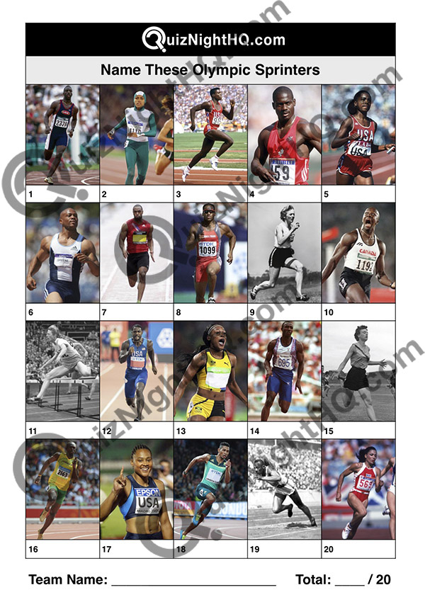 olympic champion sprinters famous faces trivia picture round
