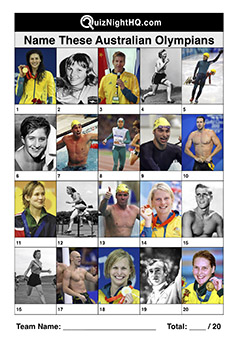 australian olympic heroes trivia picture quiz