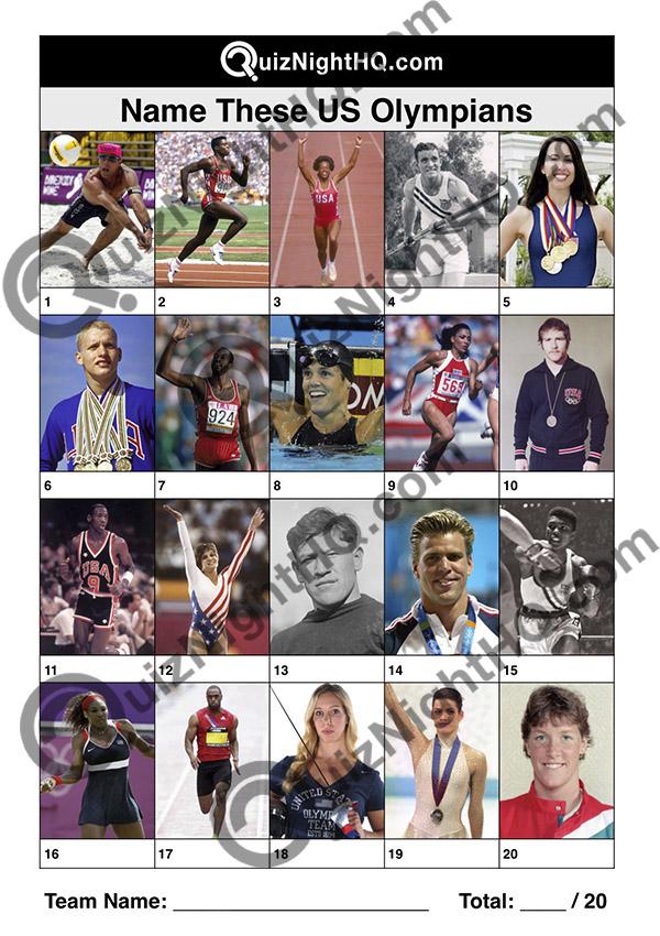 us olympians famous faces quiz round