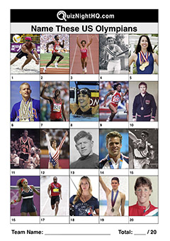 us olympians famous faces quiz round