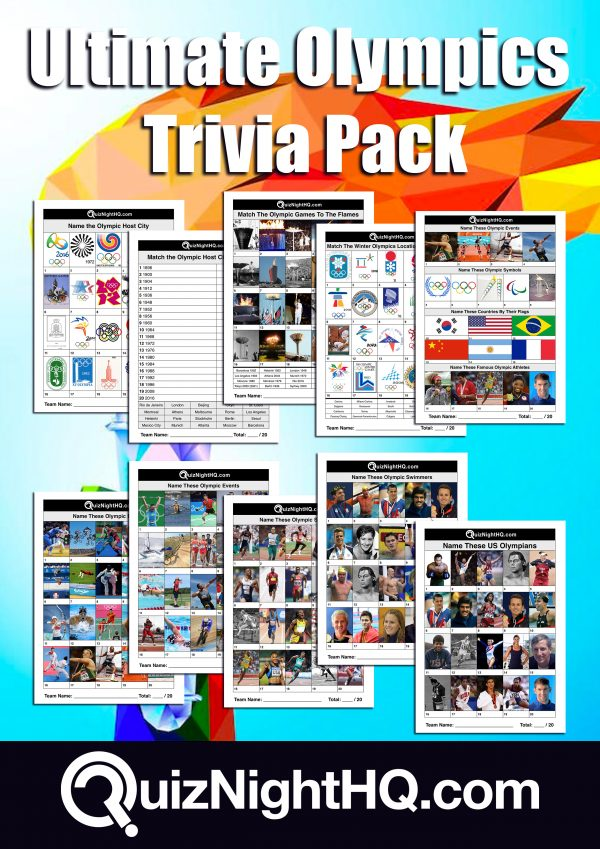 ultimate olympics trivia pack picture quiz rounds