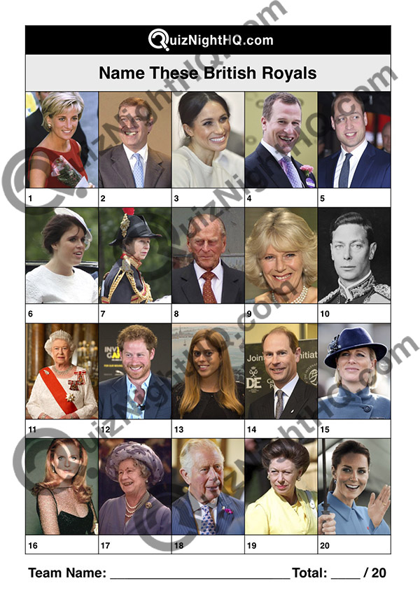 british royalty picture trivia round