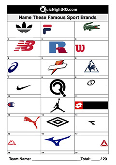 sport company brand logos trivia picture round