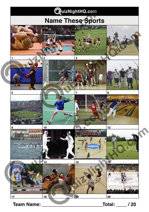 trivia picture round sports kids