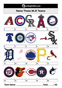mlb baseball team logos trivia picture round