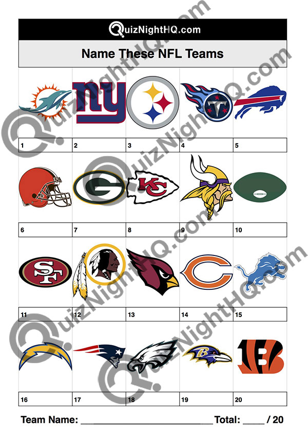 american football nfl team logos trivia picture round