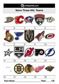 ice hockey nhl team logos trivia picture round