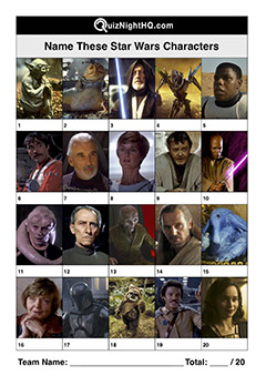 star wars movie characters trivia