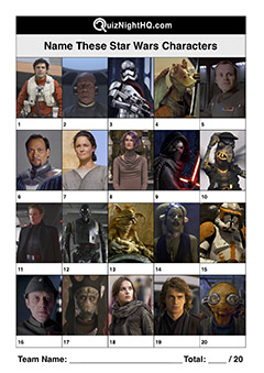 star wars characters quiz