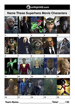 superhero movies characters trivia question round