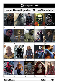 superhero movie characters film trivia round