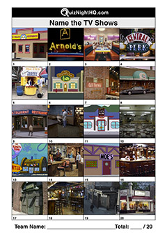 tv show locations trivia picture round