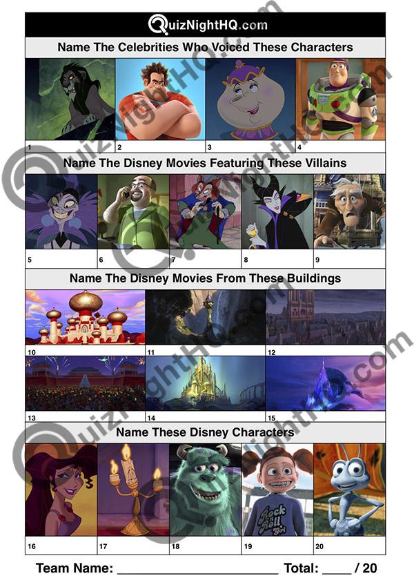 disney character villain movie trivia picture round