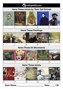 artwork art picture trivia quiz round