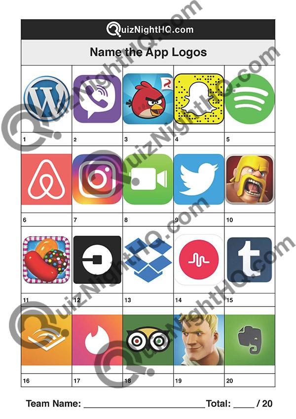 App Logos 001 Questions
