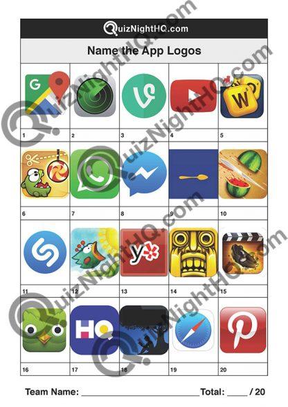 App Logos 002 Questions