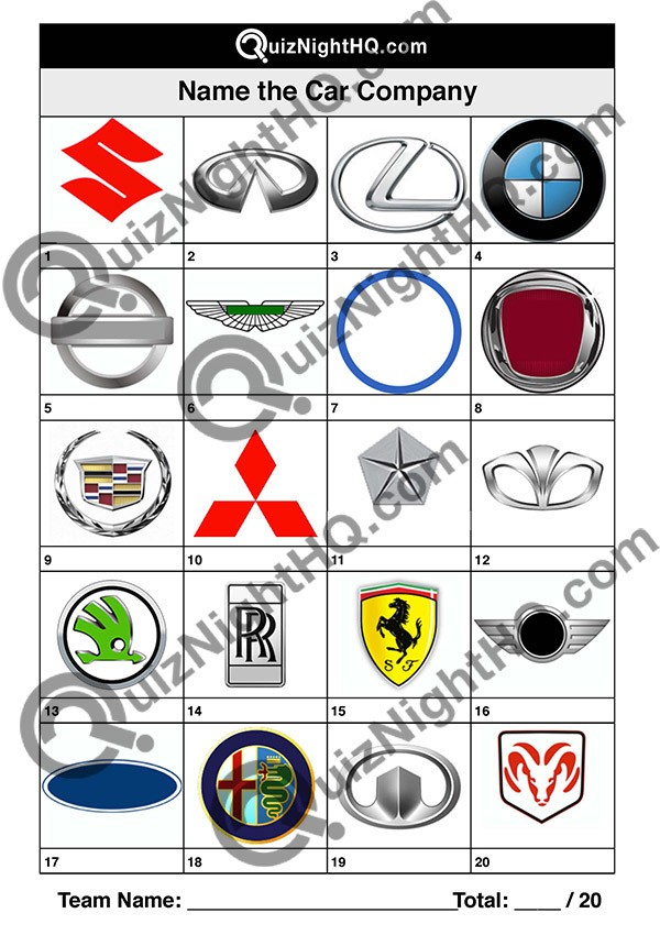 car company logos 002 questions
