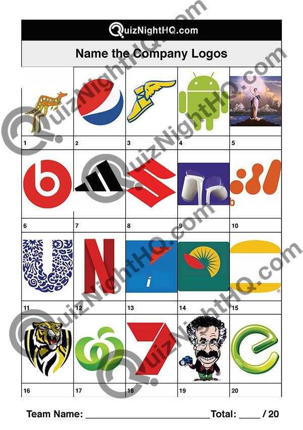 company logos 003 questions