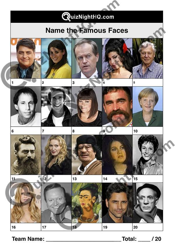 famous faces 002 questions