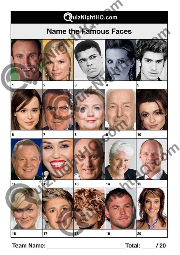 famous faces 004 questions