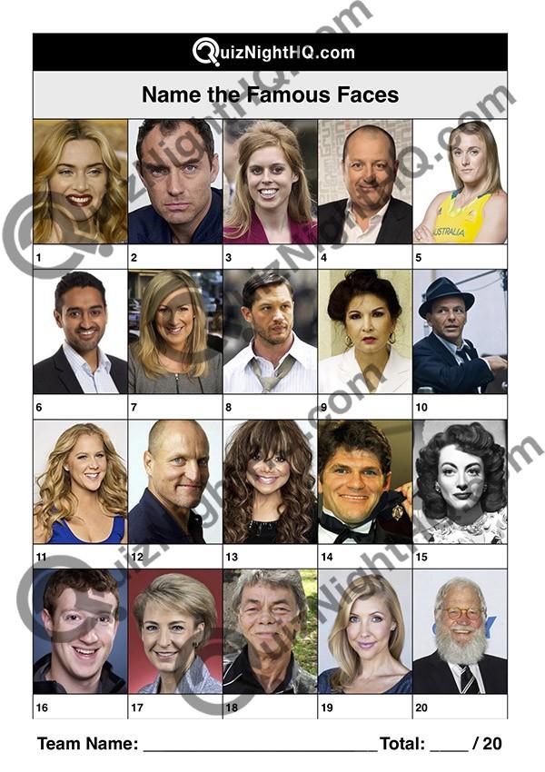 famous faces 006 questions