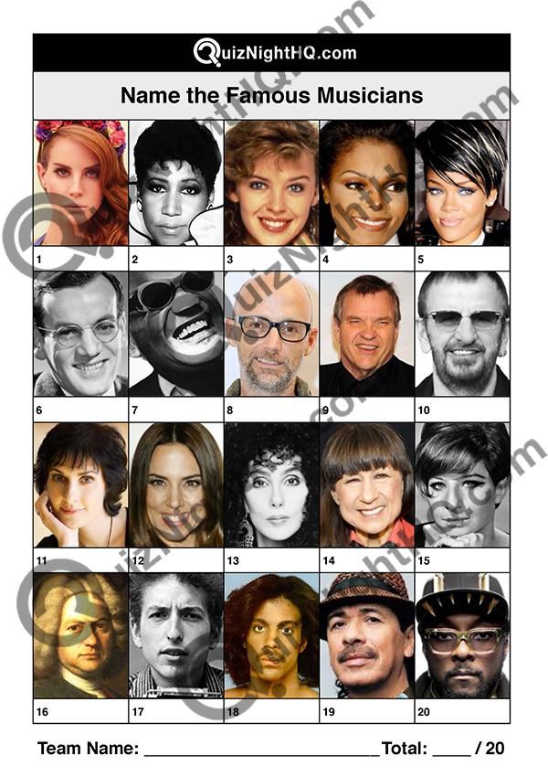 famous faces 009 musicians questions