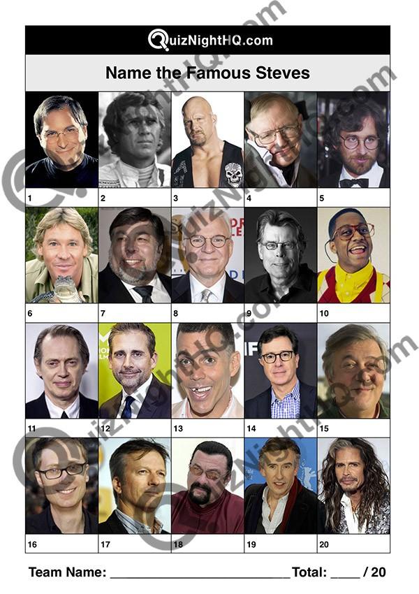 famous faces 011 questions