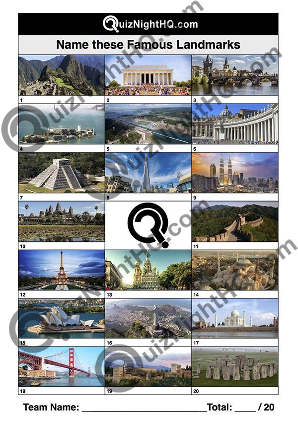 famous landmarks world trivia picture traveller round