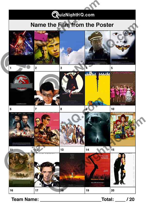 film posters 003 questions