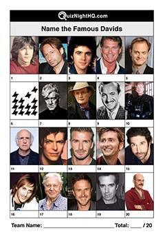 Famous Faces 008 - Davids