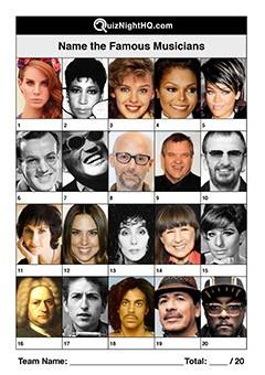 Famous Faces 009 - Musicians