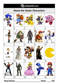Game Characters 001