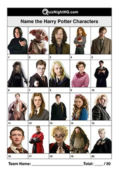 Harry Potter Characters 001