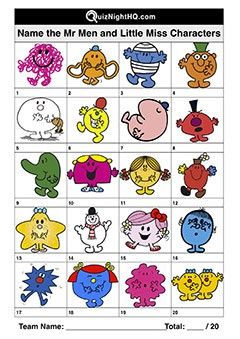 Mr Men & Little Miss Characters 001