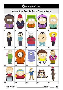 South Park Characters 001