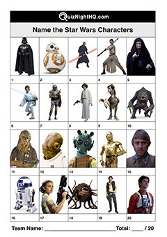Star Wars Characters 001